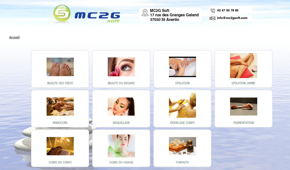 Agenda en ligne MC2G Soft